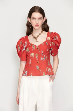 Homelife Puff Sleeve Blouse