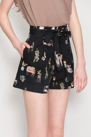 Homelife Tie Waist Shorts