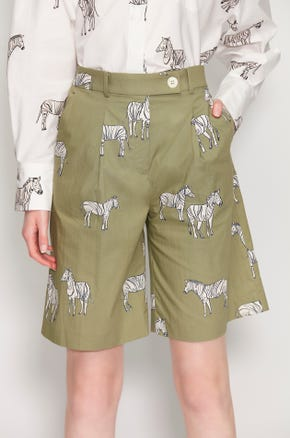 Zebra Print Bermuda Shorts