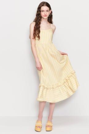 Yellow Striped Sundress