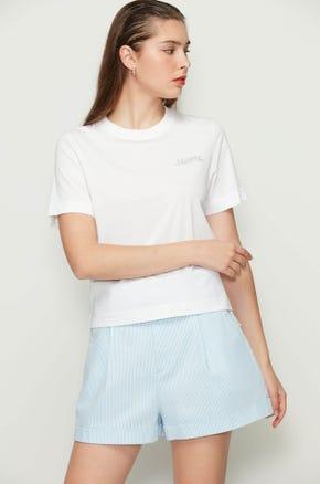White Rhinestone T-Shirt
