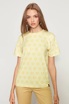 Yellow Jaspal Heart T-Shirt