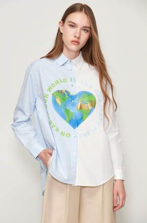 Our World Button Up Shirt