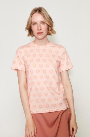 Pink Jaspal Heart T-Shirt