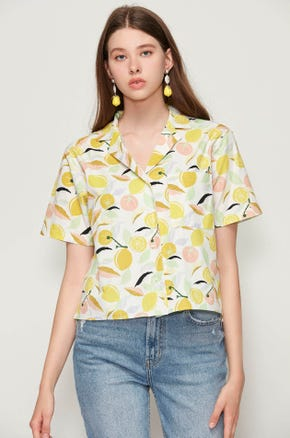 Citrus Print Shirt