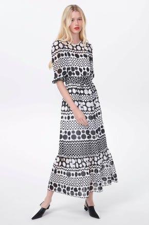 Mixed Dot Maxi Dress