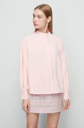 Pink Mock Neck Shirt