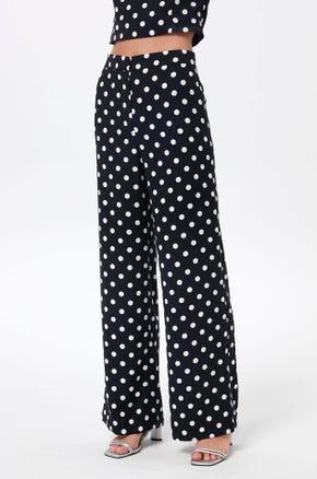 Navy Polka Dot Pants