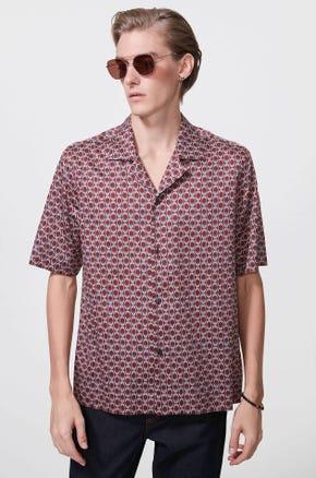 Chain Print Resort Shirt