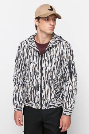 Graphic Nylon Hooded Jacket