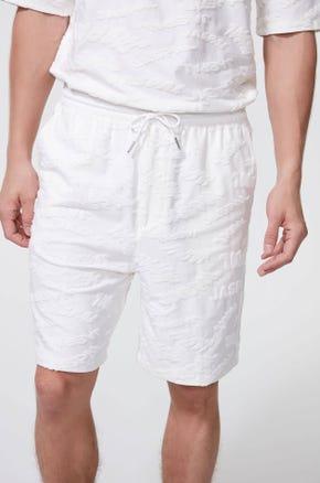 Textured Logo Shorts