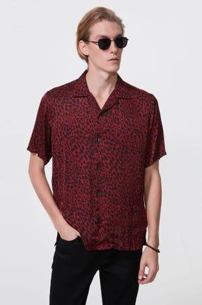 Leopard Print Resort Shirt