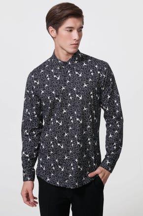 Starry Stretch Poplin Shirt