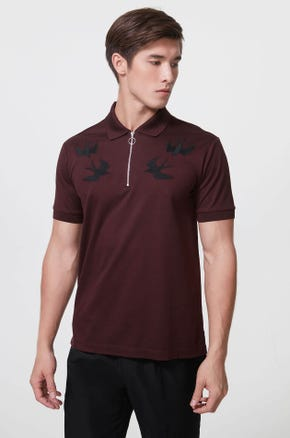 Embroidered Swallow Polo