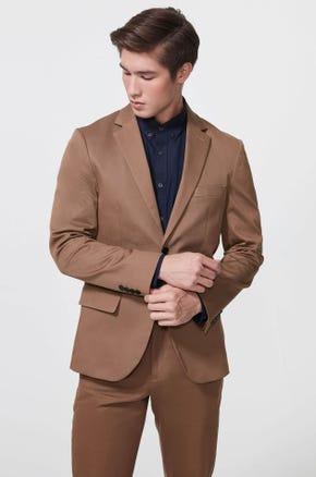 Brown Two Button Blazer