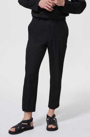 Black Cropped Chinos