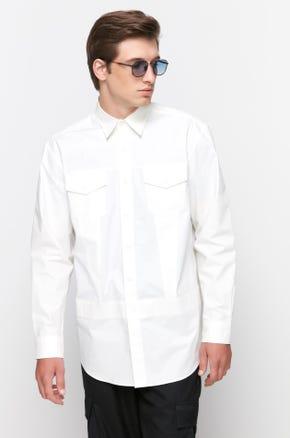 White Flap Pocket Shirt