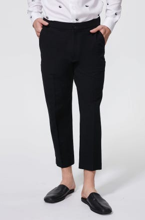 Cropped Jacquard Pants