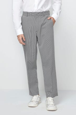 Cropped Houndstooth Pants