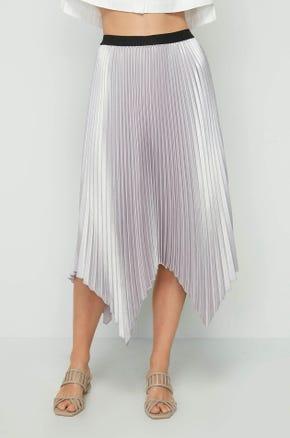Pleated Handkerchief Skirt