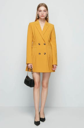 Yellow Blazer Dress