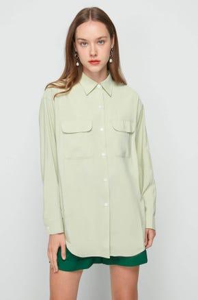 Green Double Flap Pocket Shirt