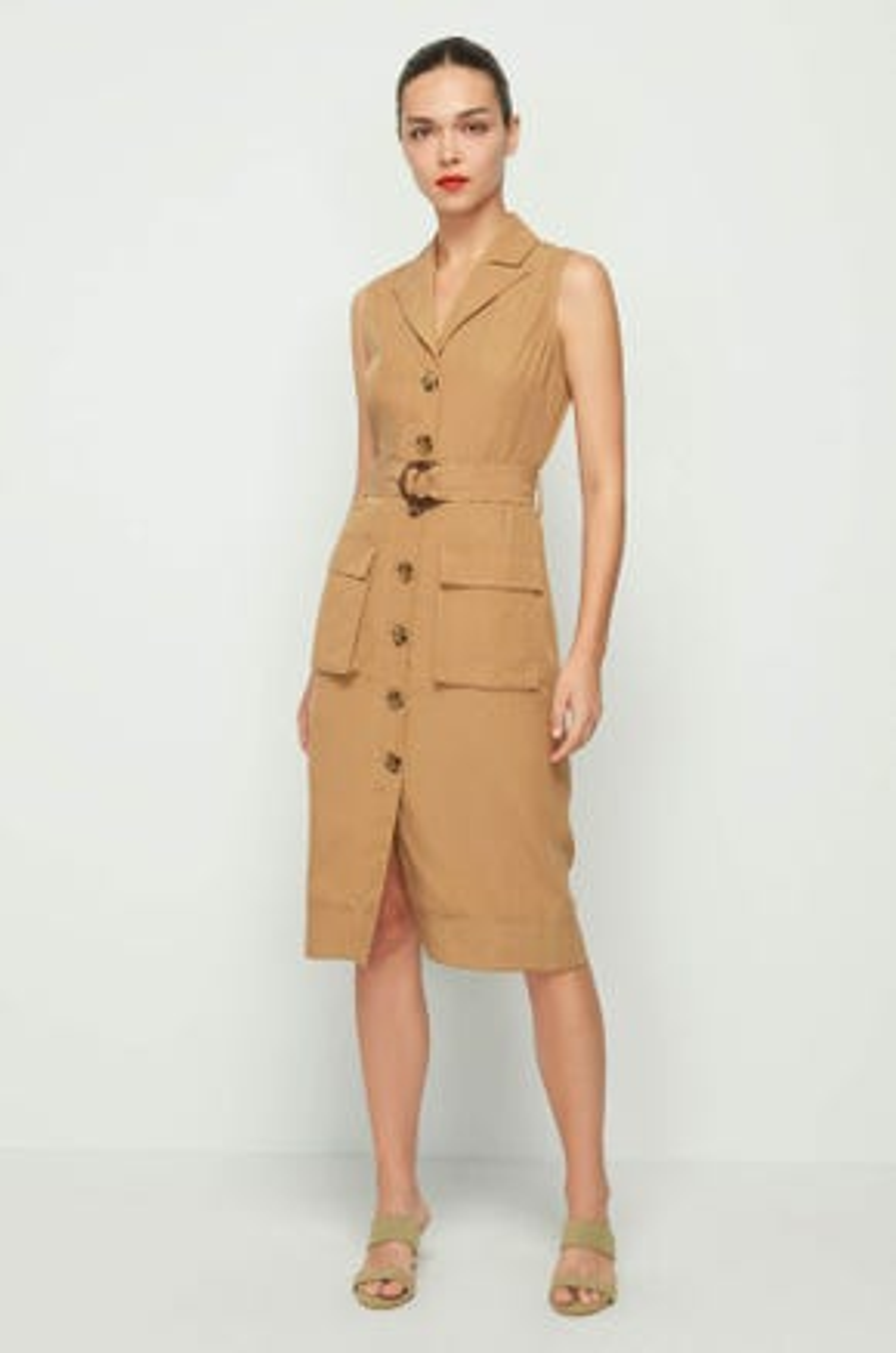 Sleeveless Utility Dress