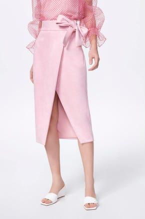 Bow Tie Wrap Skirt
