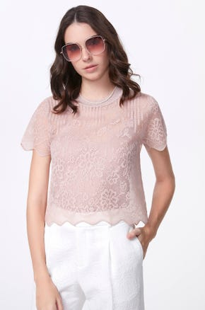 Sheer Crochet Blouse