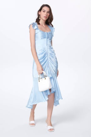 Ruched Front Midi Dress
