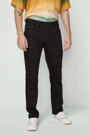 Black Raw Denim Jeans
