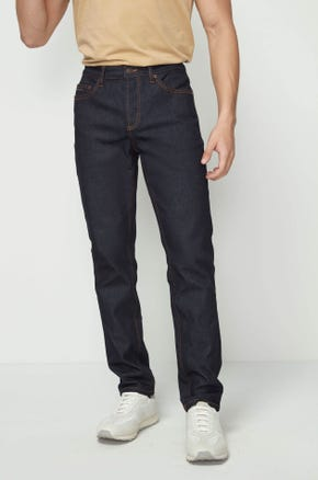Stretch Raw Denim Jeans