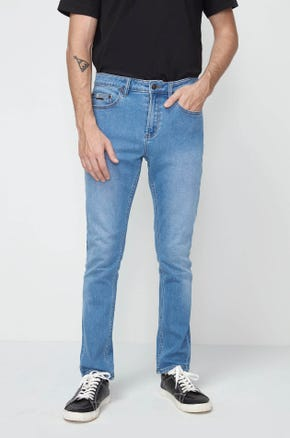 Mid Wash Skinny Jeans