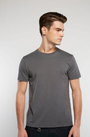 Basic Color T-Shirt - Dark Gray