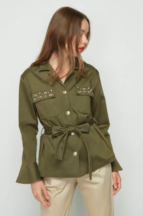 Embellished Belted Jacket