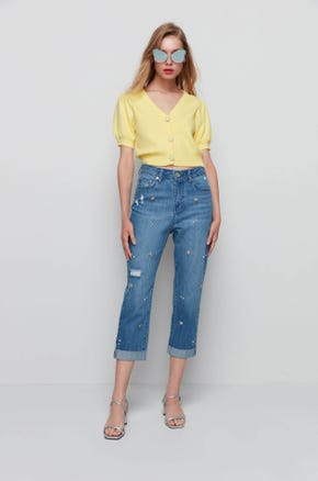 Short Sleeve Cropped Cardigan