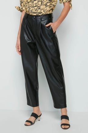 Faux Leather Ankle Pants