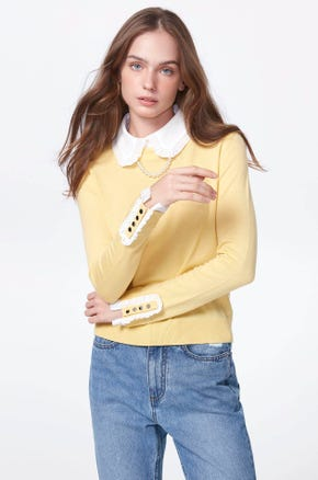 Pearl Necklace Knit Top