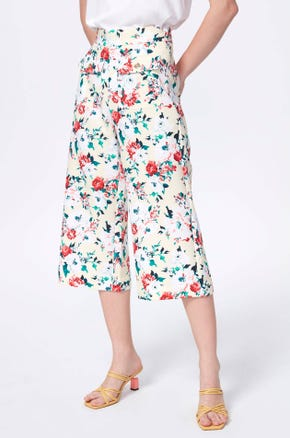 High Waisted Floral Culottes