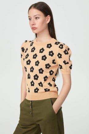 Floral Sweatshirt Top