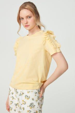 Eyelet Detail T-Shirt