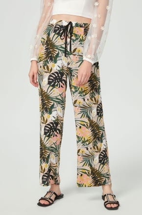Tropical Drawstring Pants