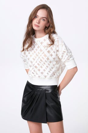 Lace Crisscross Sweatshirt