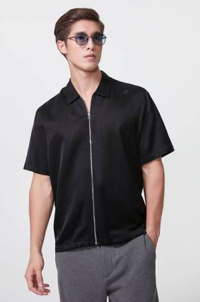 Short Sleeve Zip Up Shirt
