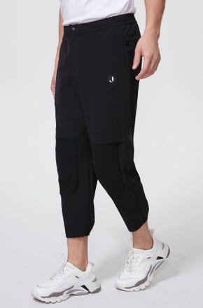 Cropped Tech Fabric Pants