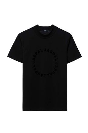 Mock Neck Logo T-Shirt