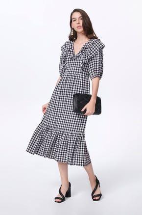 Gingham Midi Dress