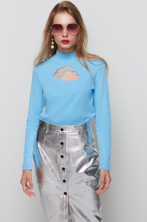 Clouds Cutout T-Shirt