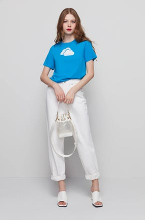 Embroidered Clouds T-Shirt