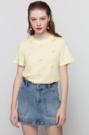 Embroidered Yellow T-Shirt